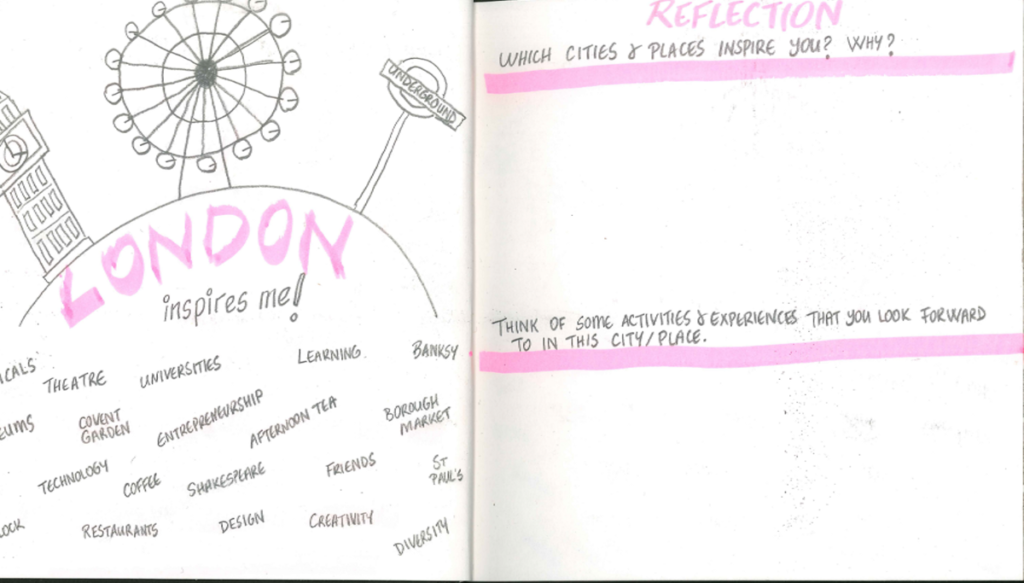A page from my cities diary